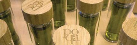 Greek extra virgin olive oil on perfume packaging