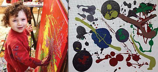 3 year old autistic artist speaks through his paintings