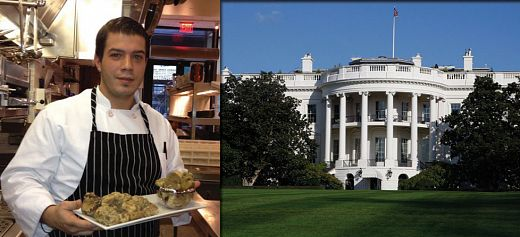 The Greek chef in the kitchen of the White House