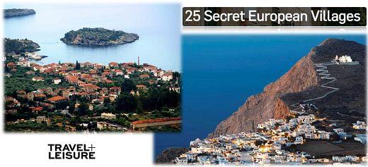 Φολέγανδρος και Καρδαμύλη στα 25 κορυφαία μυστικά χωριά της Ευρώπης