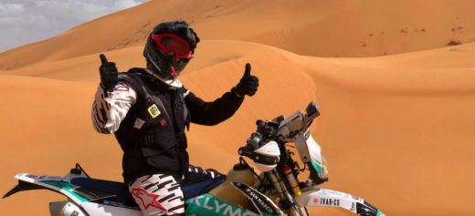 The first Greek woman motorcycle rider to enter the Dakar Rally
