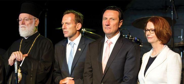 Australian Prime Minister attends greek festival