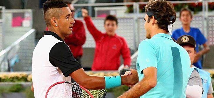 Ο Κύργιος απέκλεισε τον Φέντερερ στο Open της Μαδρίτης