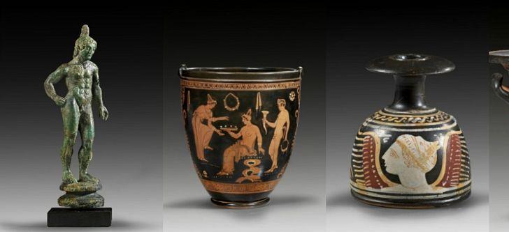 4 αντικείμενα εντοπίστηκαν σε δημοπρασία από τον Έλληνα κυνηγό κλεμμένων αρχαιοτήτων