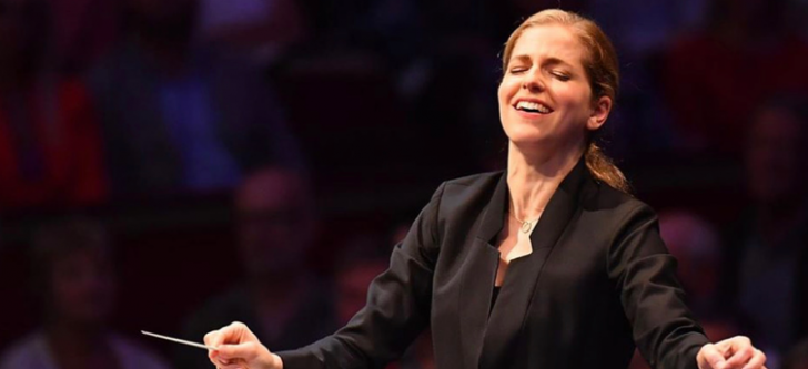 "The first female conductor  who ""wins"" Europe"