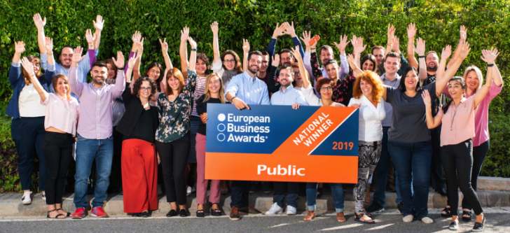 Distinction for Public at the European Business Awards 2019