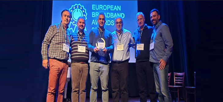 First place at the European Broadband Awards