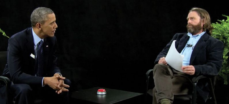 Barack Obama at Zach Galifianakis' TV show