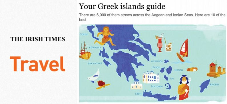 Irish Times promotes greek islands