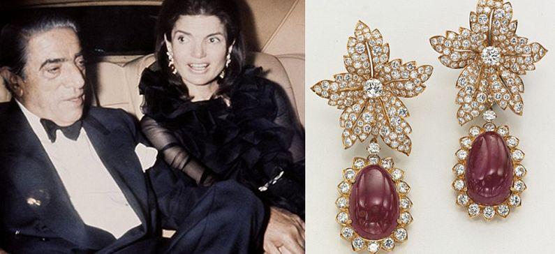 Aristotelis Onassis' wedding jewelry to Jackie in auction