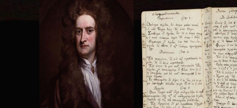 Isaac Newton's transcripts in Greek