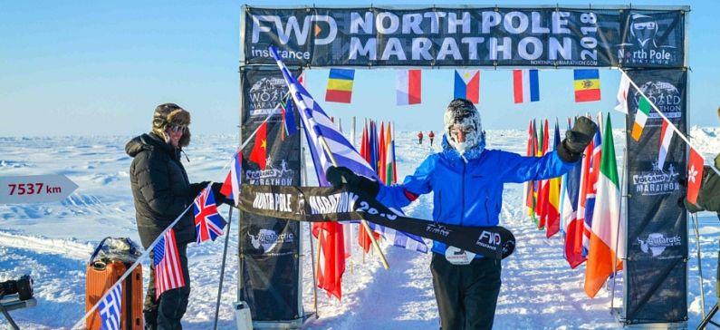 Αργύρης Παπαθανασόπουλος ο Έλληνας που τερμάτισε πρώτος στον Μαραθώνιο του Βόρειου Πόλου