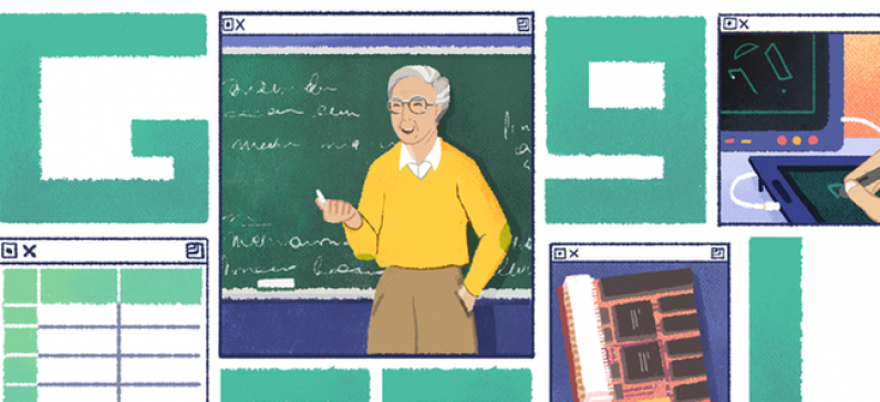 A tribute to his contributions by Google