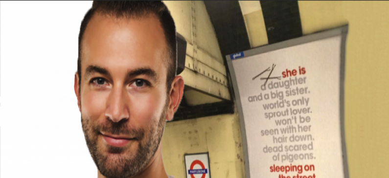 The Greek creator of a subway campaign in UK