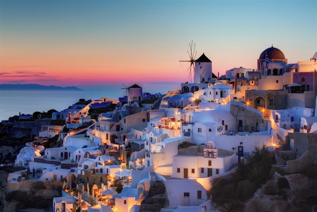 santorini-oia-sunset