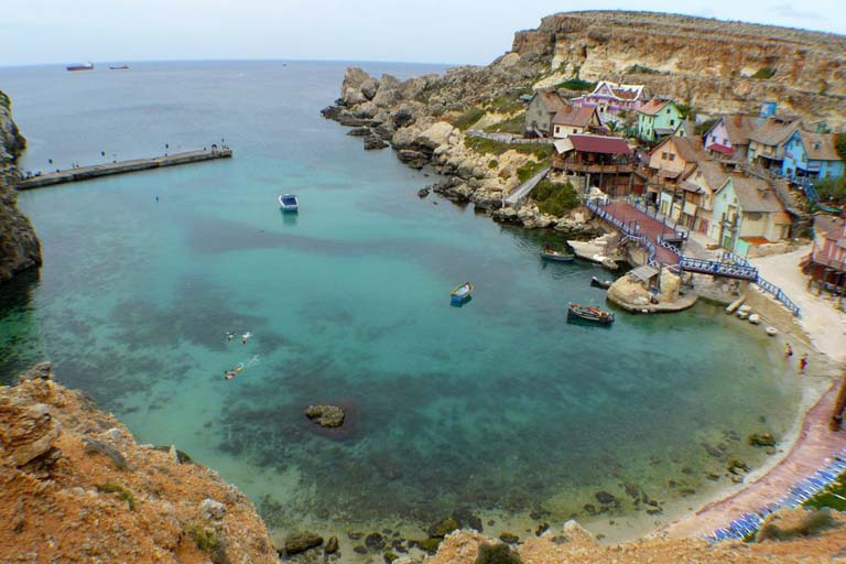ANCHOR BAY IN MALTA
