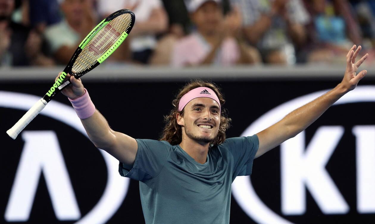 Stefanos Tsitsipas Stefanos Tsitsipas Beat Federer Beat Bautista Climbing At The Top Of World Tennis Ellines Com